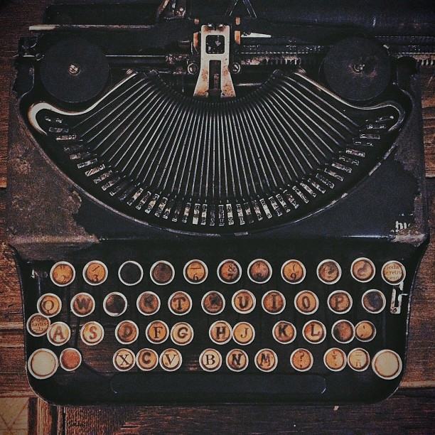 Machine à écrire la rouille